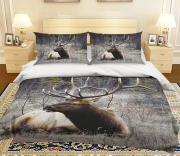 3D Antelope Grass 049 Bed Pillowcases Quilt