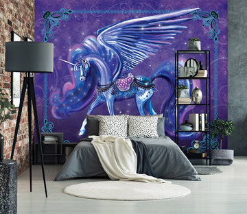 3D Unicorn Wings 103 Rose Catherine Khan Wall Mural Wall Murals