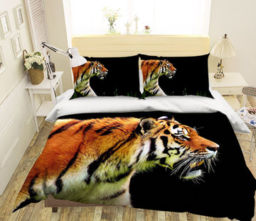 3D Fierce Tiger 1949 Bed Pillowcases Quilt