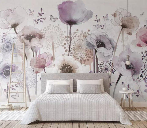 3D Colored Flowers WG89 Wall Murals