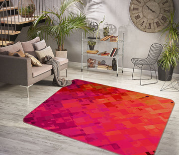 3D Orange Red Graffiti 1006 Shandra Smith Rug Non Slip Rug Mat