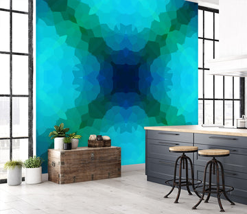 3D Shades Blue Green 71082 Shandra Smith Wall Mural Wall Murals