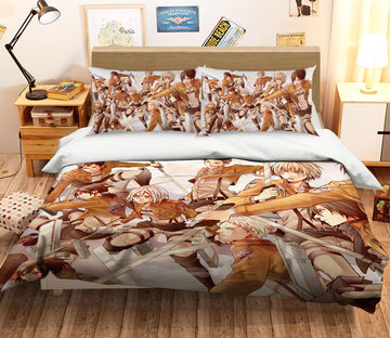 3D Attack On Titan 1643 Anime Bed Pillowcases Quilt Quiet Covers AJ Creativity Home