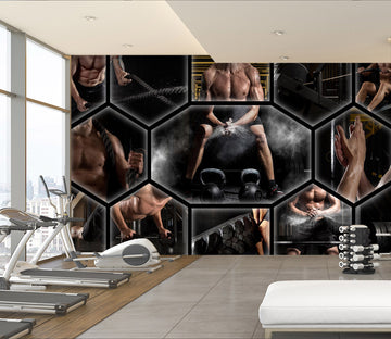 3D Crazy Fitness 310 Wall Murals