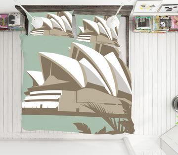 3D Sydney Opera House 2073 Steve Read Bedding Bed Pillowcases Quilt