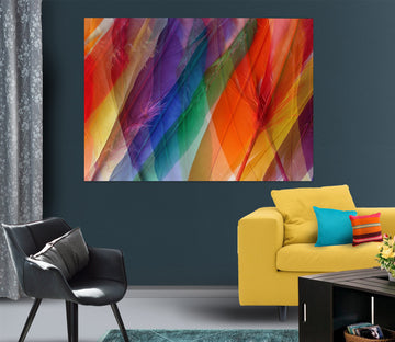 3D Colored Feathers 71101 Shandra Smith Wall Sticker