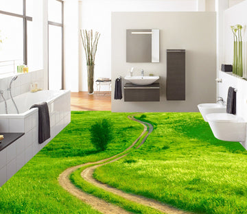 3D Grass Pathn WG370 Floor Mural