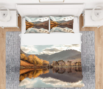 3D Valley Lake 1072 Assaf Frank Bedding Bed Pillowcases Quilt