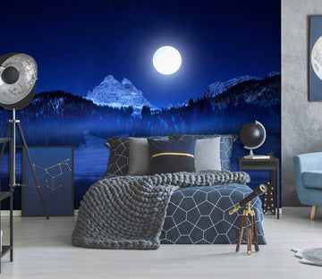 3D Moon Forest 1445 Marco Carmassi Wall Mural Wall Murals