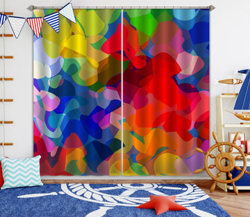 3D Colorful Graffiti 039 Shandra Smith Curtain Curtains Drapes