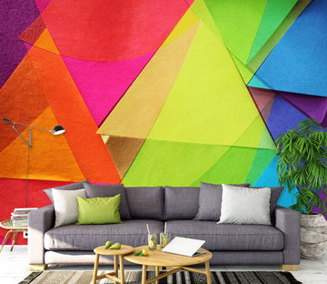 3D Colored Triangle 71089 Shandra Smith Wall Mural Wall Murals