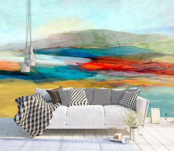 3D Colored Lake 1547 Michael Tienhaara Wall Mural Wall Muralss