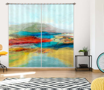 3D Colored Pool 252 Michael Tienhaara Curtain Curtains Drapes