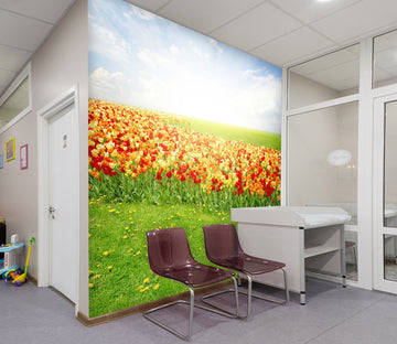 3D Bright Flower Sea 328 Wall Murals