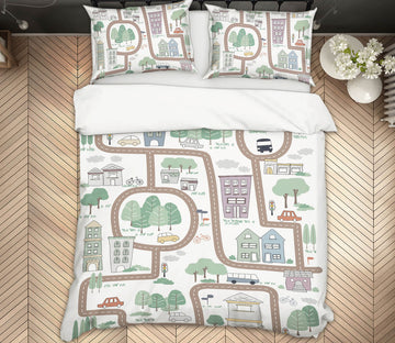 3D Lovely Street 2102 Jillian Helvey Bedding Bed Pillowcases Quilt