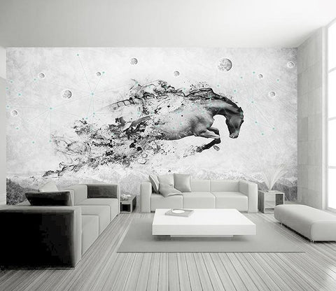 3D Abstract Horse 348 Wall Murals Wallpaper AJ Wallpaper 2