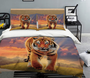 3D Rising Tiger 073 Bed Pillowcases Quilt Exclusive Designer Vincent