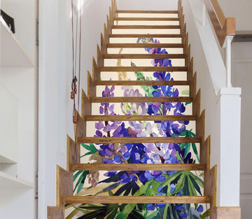 3D Flowers 1482 Stair Risers Wallpaper AJ Wallpaper