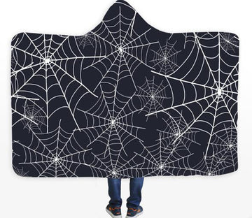3D Spider Web 180 Hooded Blanket