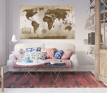 3D Abstract Pattern 210 World Map Wall Sticker