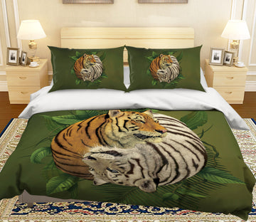 3D Tiger Yin Yang 088 Bed Pillowcases Quilt Exclusive Designer Vincent