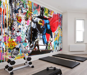 3D Strong Superman 084 Wall Murals