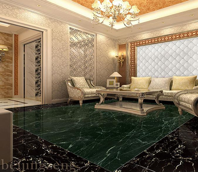 3D Black Marble Pattern WG265 Floor Mural Wallpaper AJ Wallpaper 2