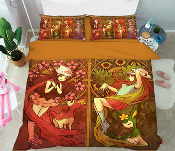 3D Pokemon 1 Anime Bed Pillowcases Quilt Anime Quiet Covers AJ Creativity Home