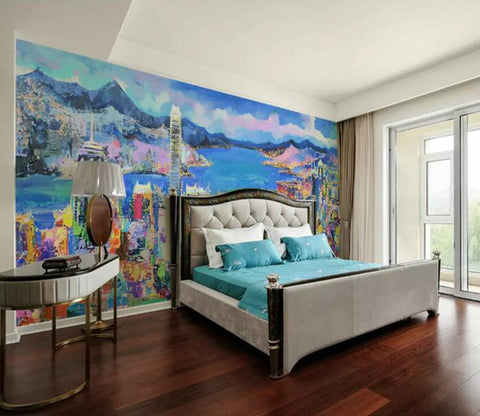 3D Color City WG88 Wall Murals