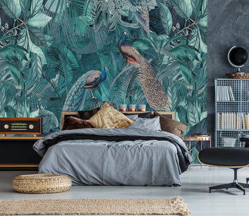 3D Quiet Leaves 1009 Andrea haase Wall Mural Wall Murals