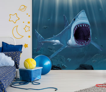 3D Shark Bite 1548 Wall Murals Exclusive Designer Vincent