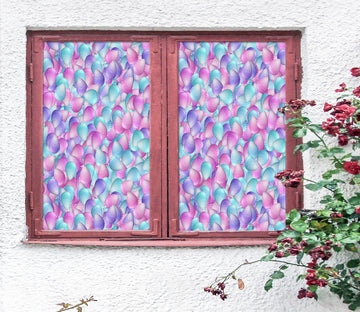 3D Pink Petals 192 Window Film Print Sticker Cling Stained Glass UV Block