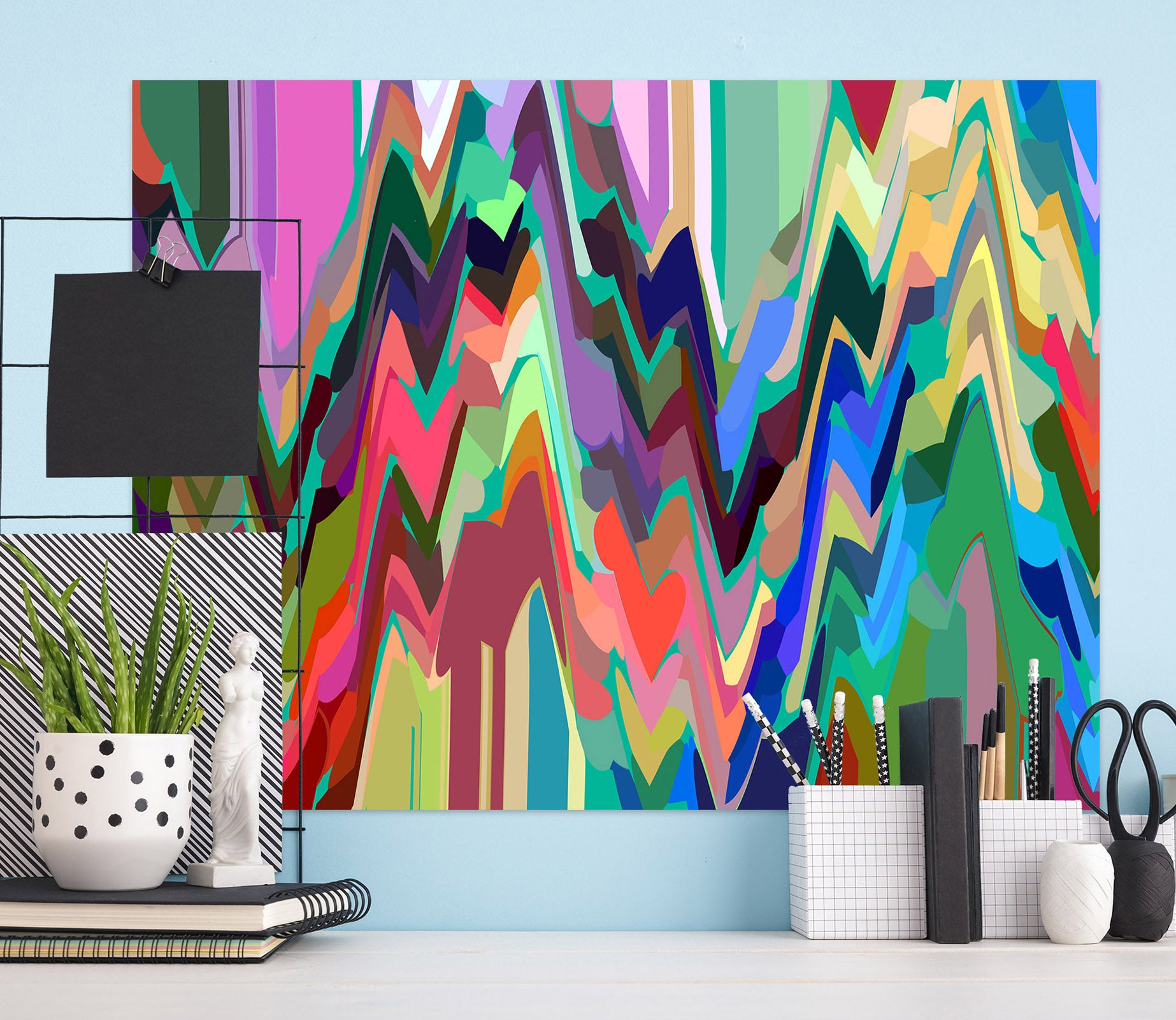 3D Colored Trees 71122 Shandra Smith Wall Sticker