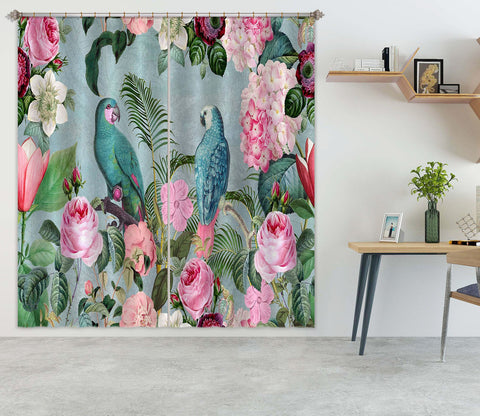 3D Bird Friends 067 Andrea haase Curtain Curtains Drapes