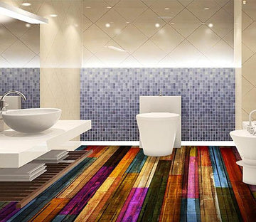 3D Color Wood Grain WG264 Floor Mural