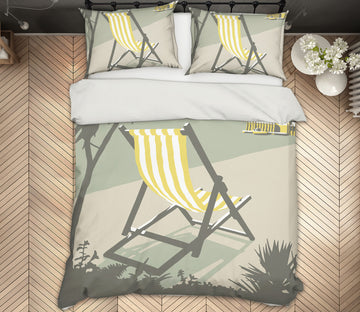3D Rock Deckchair 2047 Steve Read Bedding Bed Pillowcases Quilt