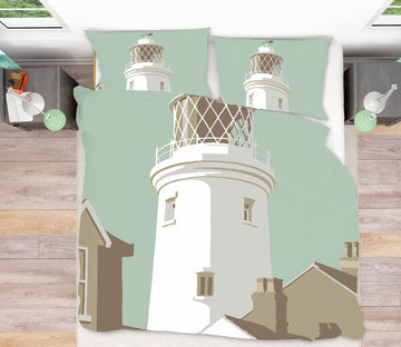 3D Southwold Lighthouse 2063 Steve Read Bedding Bed Pillowcases Quilt