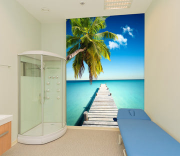 3D Seascape Bridge 016 Wall Murals