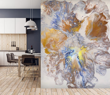 3D Flowers In Water 6899 Euphoric Pouring Wall Mural Wall Murals
