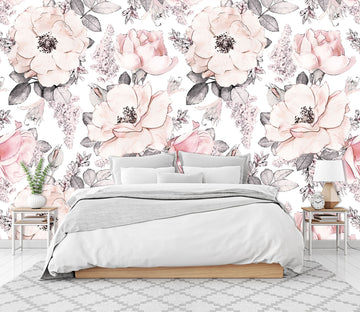 3D Pink Blooming Flower 141 Wall Murals