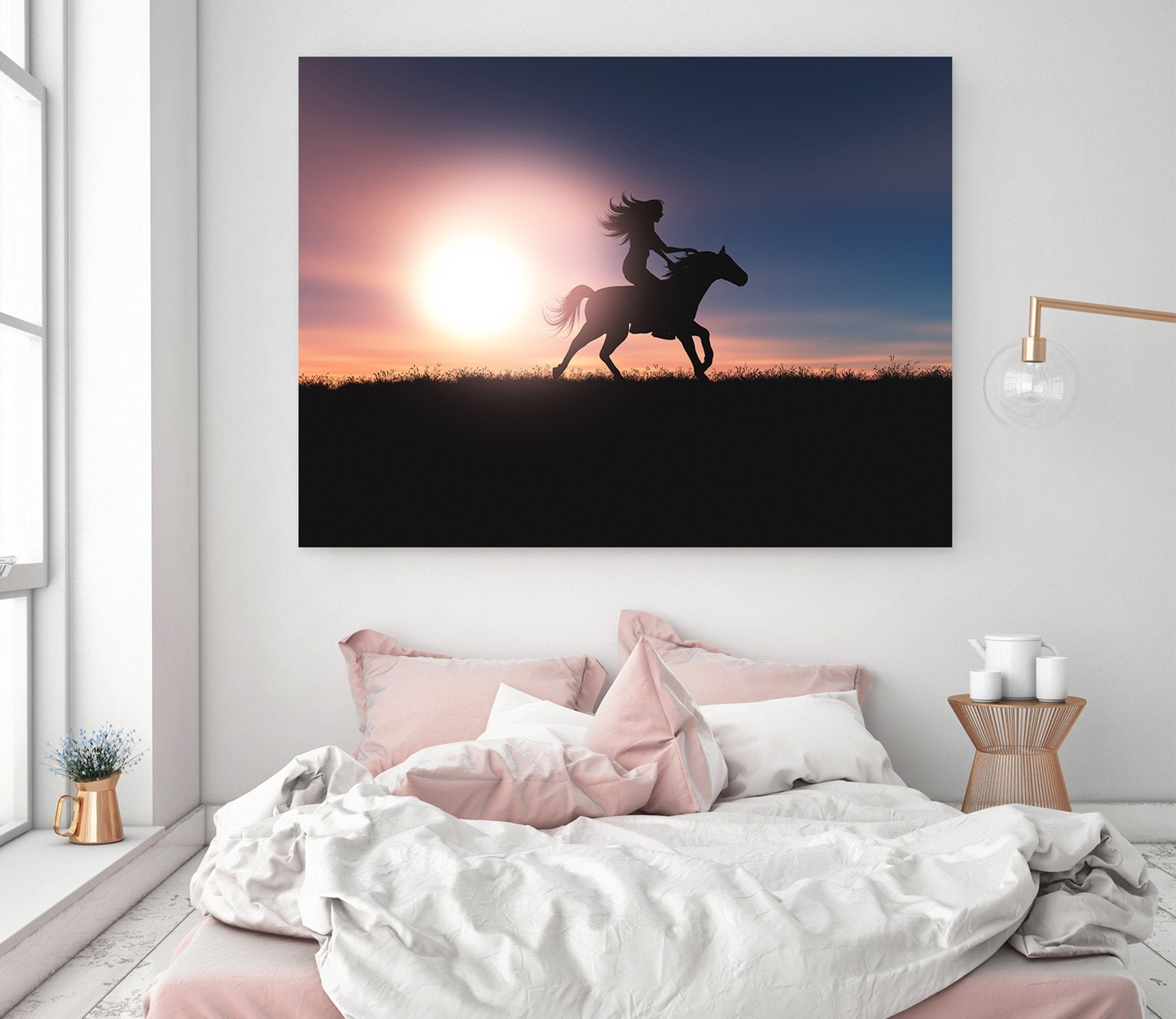 3D Sunset Horse 04 Animal Wall Stickers