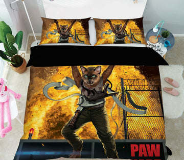 3D Paw Hard 066 Bed Pillowcases Quilt Exclusive Designer Vincent