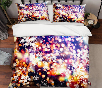 3D Aperture Snowflake 53024 Christmas Quilt Duvet Cover Xmas Bed Pillowcases