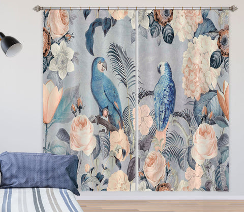 3D Bird Friends 069 Andrea haase Curtain Curtains Drapes