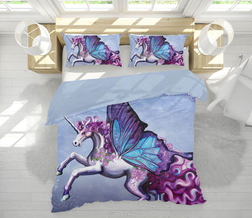 3D Wing Horse 104 Rose Catherine Khan Bedding Bed Pillowcases Quilt