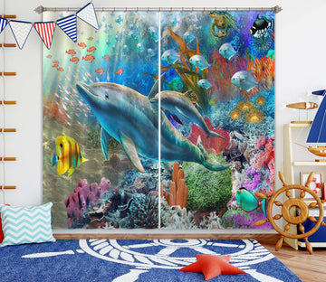 3D Cute Fish 052 Adrian Chesterman Curtain Curtains Drapes