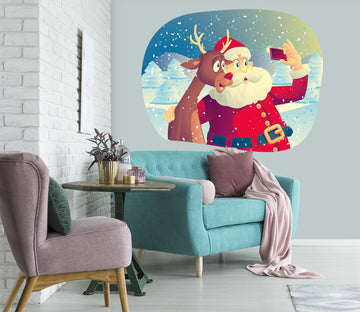 3D Santa Claus Taking Pictures 25 Wall Stickers Wallpaper AJ Wallpaper