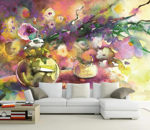 3D Vase Graffiti WC76 Wall Murals