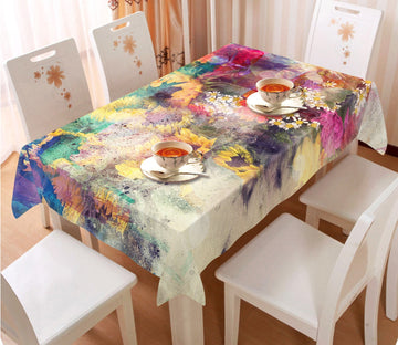 3D Hazy Sunflower 39 Tablecloths Wallpaper AJ Wallpaper