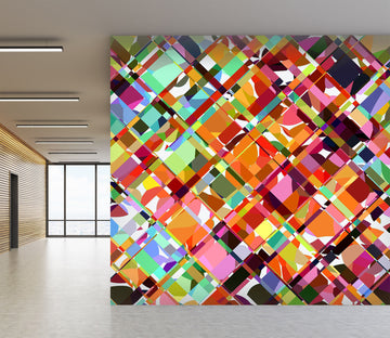 3D Multicolored Pattern 1403 Shandra Smith Wall Mural Wall Murals